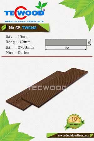 Tấm ốp gỗ nhựa TWS142 Coffee