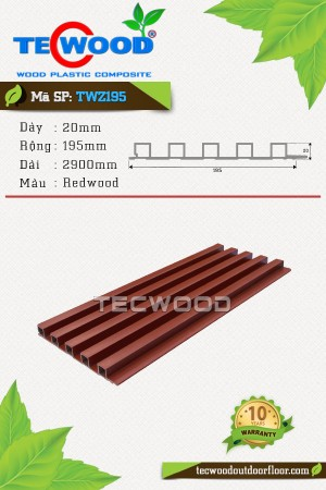 Tấm ốp gỗ nhựa trong nhà TWZ195 Redwood