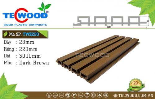 Tấm gỗ ốp tường TecWood TWZ220 - Dark Brown