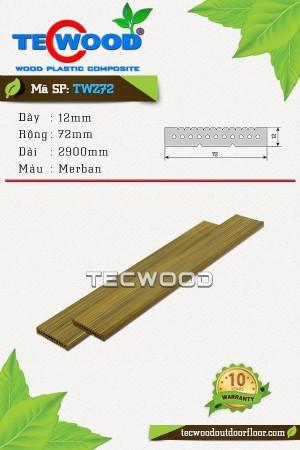Thanh lam gỗ nhựa TWZ72 - Merban