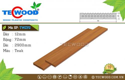 Tấm ốp gỗ nhựa TWZ72 - Teak