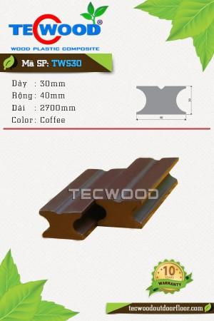 Thanh đà gỗ nhựa TecWood TWS30