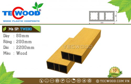 Thanh lam TecWood TWE80-Wood