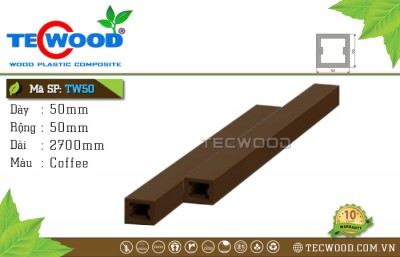 Thanh gỗ nhựa TecWood TW50 Coffee