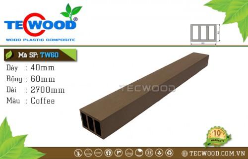 Thanh lam gỗ nhựa TW60 - Coffee