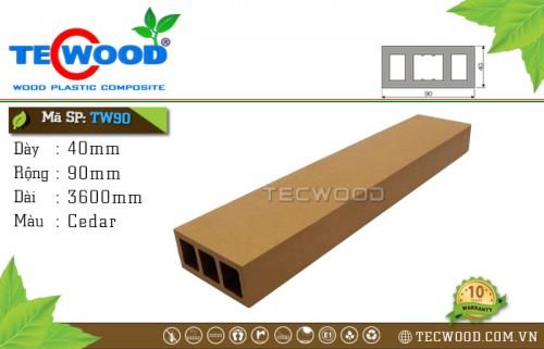 Thanh gỗ nhựa TecWood TW90 Cedar