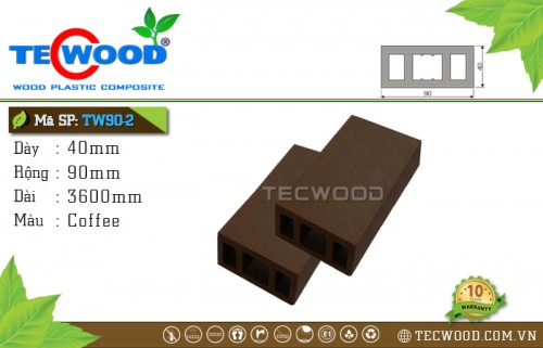 Thanh lam gỗ nhựa TW90-2 Coffee