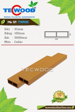Thanh gỗ nhựa TWR35 cedar