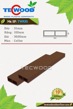 Thanh gỗ nhựa TWR35 coffee
