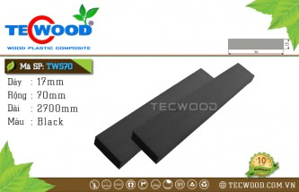 Thanh lam gỗ nhựa TWS70 Black