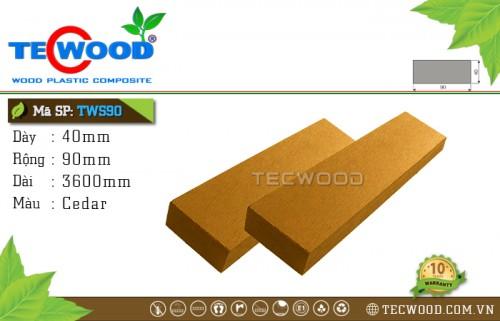 Thanh lam gỗ nhựa TWS90 Cedar