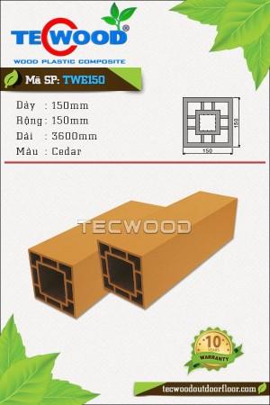 Trụ cột gỗ nhựa TecWood TWE150-Cedar