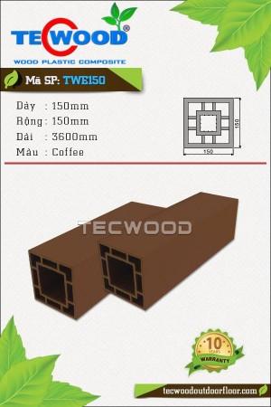 Trụ cột gỗ nhựa TecWood TWE150-Coffee
