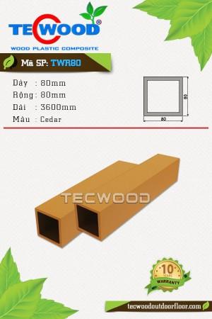 Trụ cột gỗ nhựa TWR80 Cedar