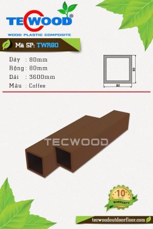 Trụ cột gỗ nhựa TWR80 Coffee