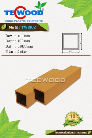 Trụ cột gỗ nhựa TWE102-Cedar