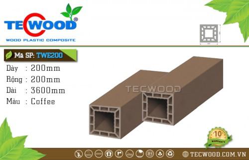 Trụ cột gỗ nhựa TWE200-Coffee