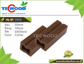 Thanh đà gỗ nhựa TW30-Coffee