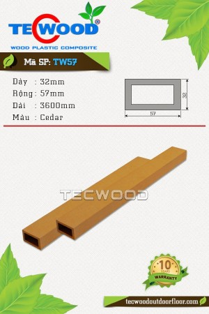 Thanh lam gỗ nhựa TW57 Cedar