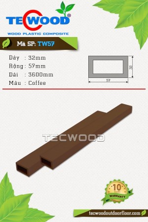 Thanh gỗ nhựa TW57 Coffee