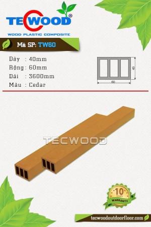 Thanh lam gỗ nhựa TW60 Cedar