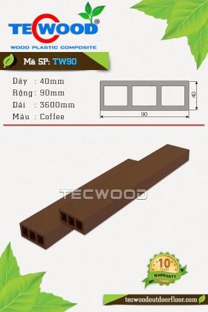 Thanh lam gỗ nhựa TW90 Coffee