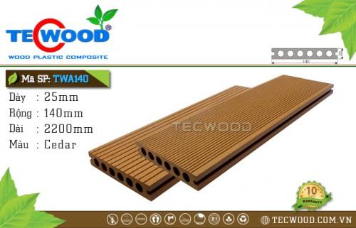 Sàn gỗ nhựa ngoài trời TecWood TWA140 Cedar