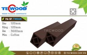 Trụ cột gỗ nhựa TWE120-Coffee