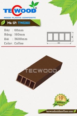 Thanh lam gỗ nhựa TWE160 Coffee