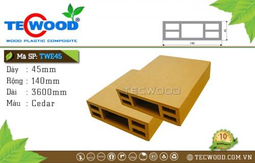 TWE45 Cedar - Thanh gỗ nhựa TecWood