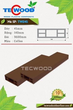 TWE45 Coffee - Thanh gỗ nhựa TecWood