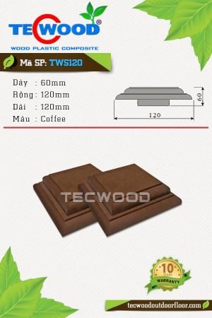 Nắp chụp đầu trụ cột TWS120-Coffee