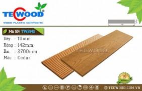 Tấm ốp gỗ nhựa TWS142 Cedar