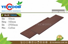 Tấm ốp gỗ nhựa TWS142 Coffee