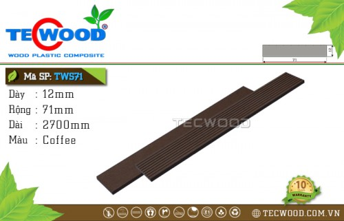 Thanh lam gỗ nhựa TecWood TWS71- Coffee