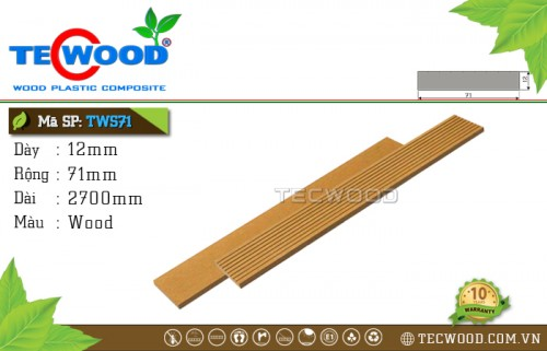 Thanh lam gỗ nhựa TecWood TWS71 - Wood