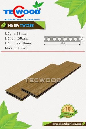 Sàn gỗ cao cấp TecWood TWT138 - Brown
