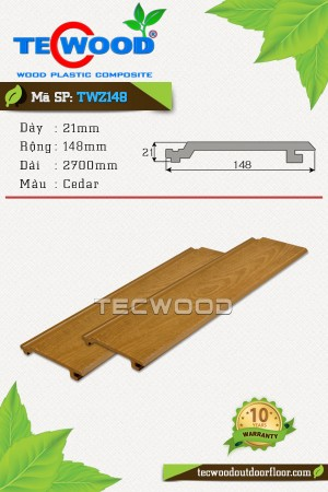 Tấm ốp gỗ nhựa TecWood TWZ148 Cedar