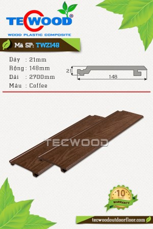 Tấm ốp gỗ nhựa TecWood TWZ148 Coffee