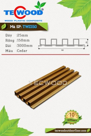 Tấm ốp gỗ nhựa TecWood TWZ150 Cedar
