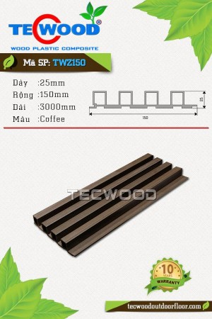 Tấm gỗ nhựa ốp tường TWZ150 Coffee
