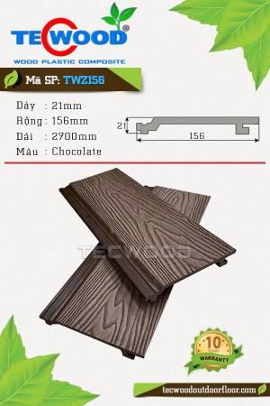 Tấm Ốp Tường Giả Gỗ TWZ156 Màu Chocolate