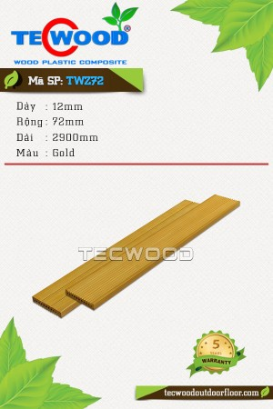 Tấm ốp gỗ nhựa TWZ72 - Gold