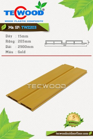 Tấm ốp gỗ nhựa TWZ203 - Gold