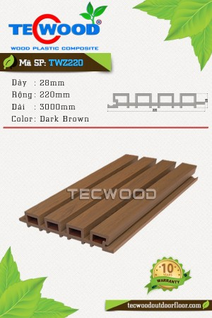 Tấm ốp gỗ nhựa TWZ220 - Dark Brown