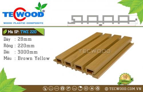Tấm gỗ ốp tường TecWood TWZ220 - Brown Yellow