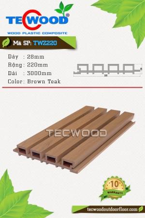 Tấm ốp gỗ nhựa TWZ220 Brown Teak