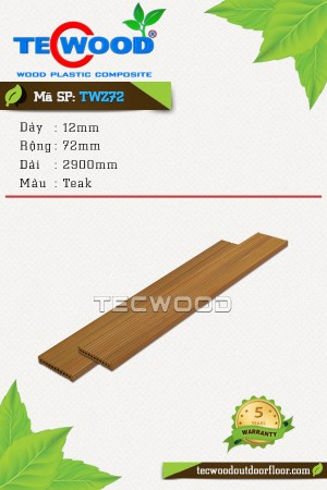 Tấm ốp gỗ nhựa TWZ72 - Teak