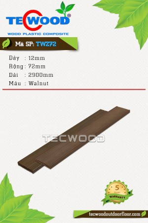 Tấm ốp gỗ nhựa TWZ72 - Walnut