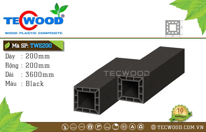 Trụ cột gỗ nhựa TWE200-Black